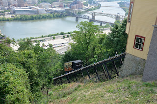 The Monongahela Inclined Plane at Mt Washington in Pittburgh