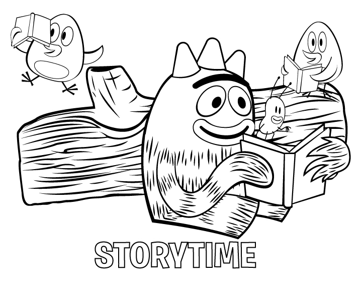Yo Gabba Printable Coloring Pages
