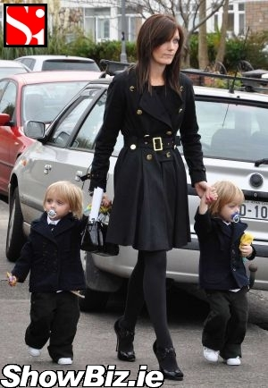 Georgina Ahern Byrne with her twins, Rooco & Jay