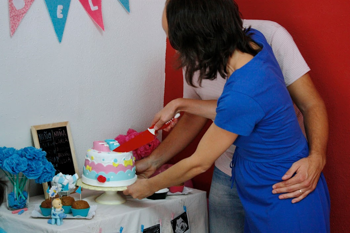fiesta revelar sexo bebé gender reveal party