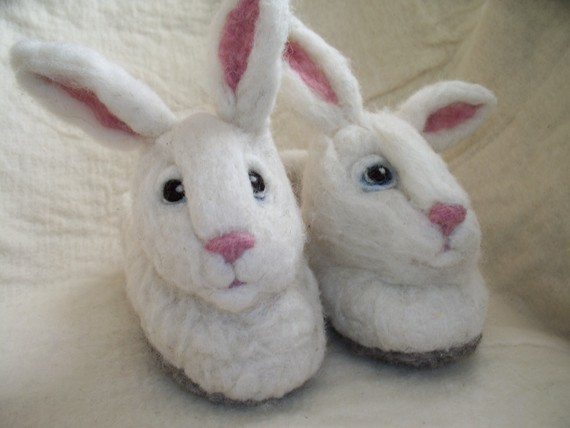 Adult bunny slipper