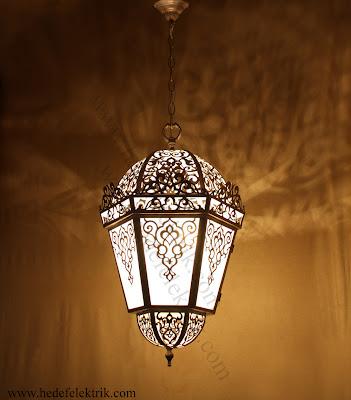Dekoratif Osmanlı Desenli Fener Sarkıt