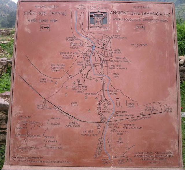 Bhangarh Fort - Guide Map