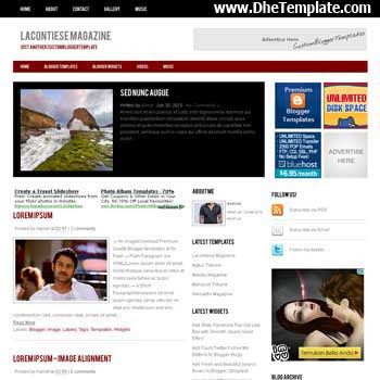 Lacontiese Magazine blogger template. slideshow template blog. pagination for blogger template. magazine style blog template. template blog form wordpress theme