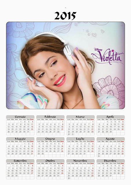 calendario 2015 violetta annuale