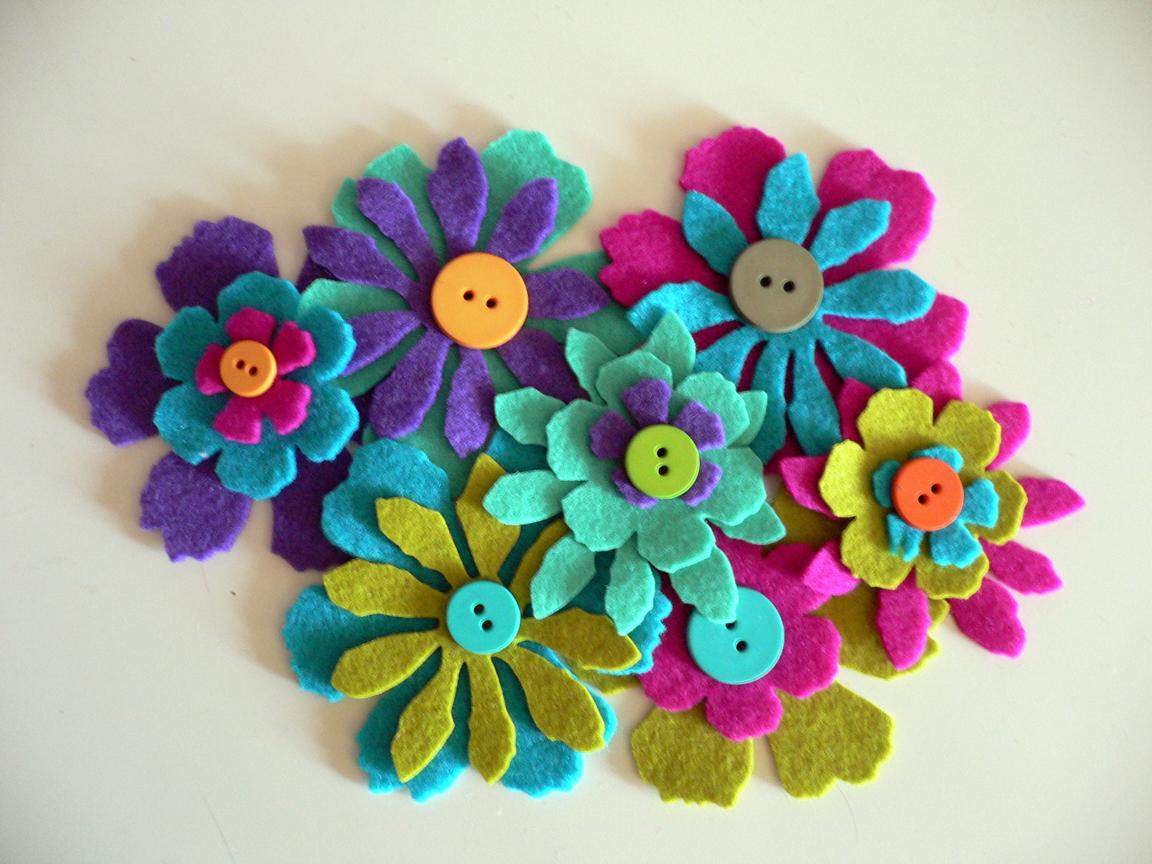 flores de fieltro Tumblr