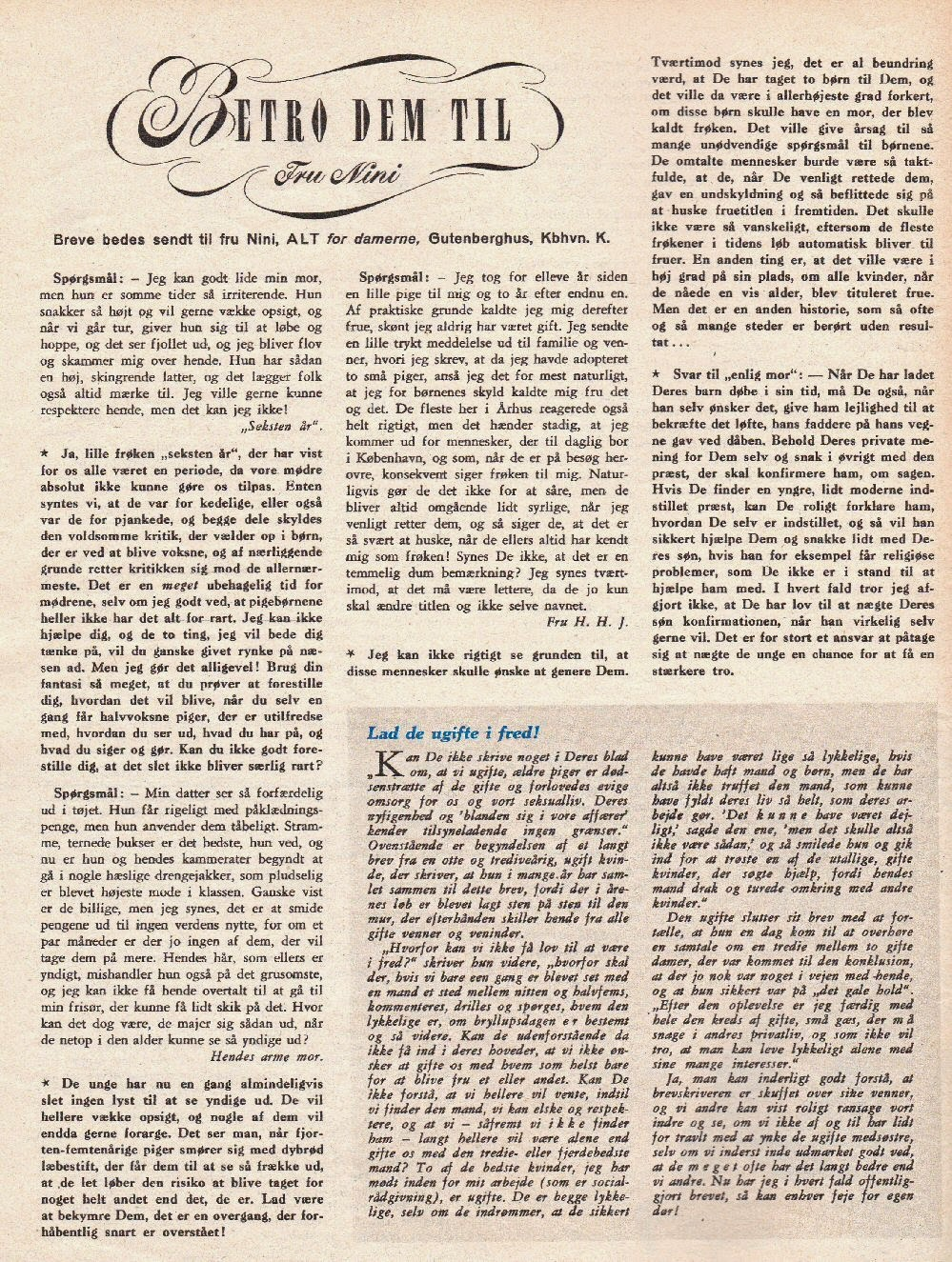ALT for Damerne, nr. 20, 1955