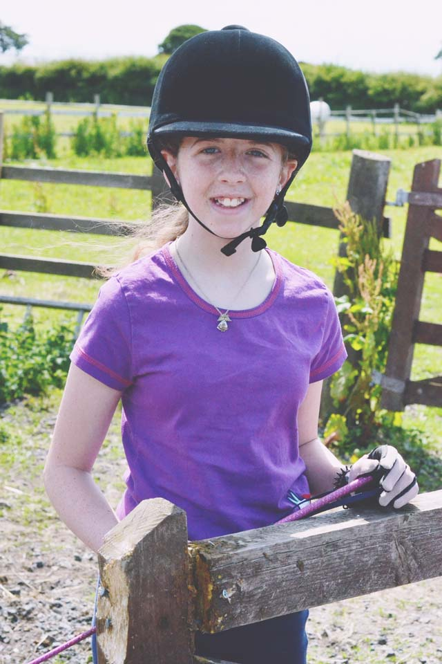 Smiling horse rider