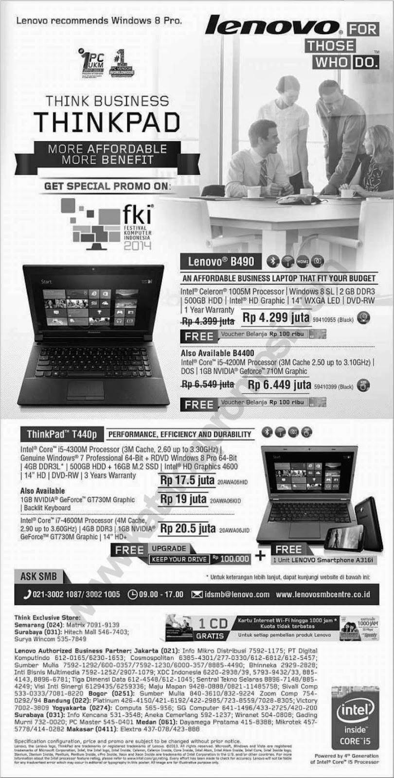 Daftar Promo Lenovo di ICS 2014