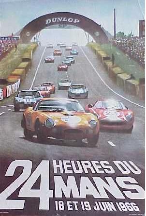 Affiche officielle des 24 Heures du Mans 1966