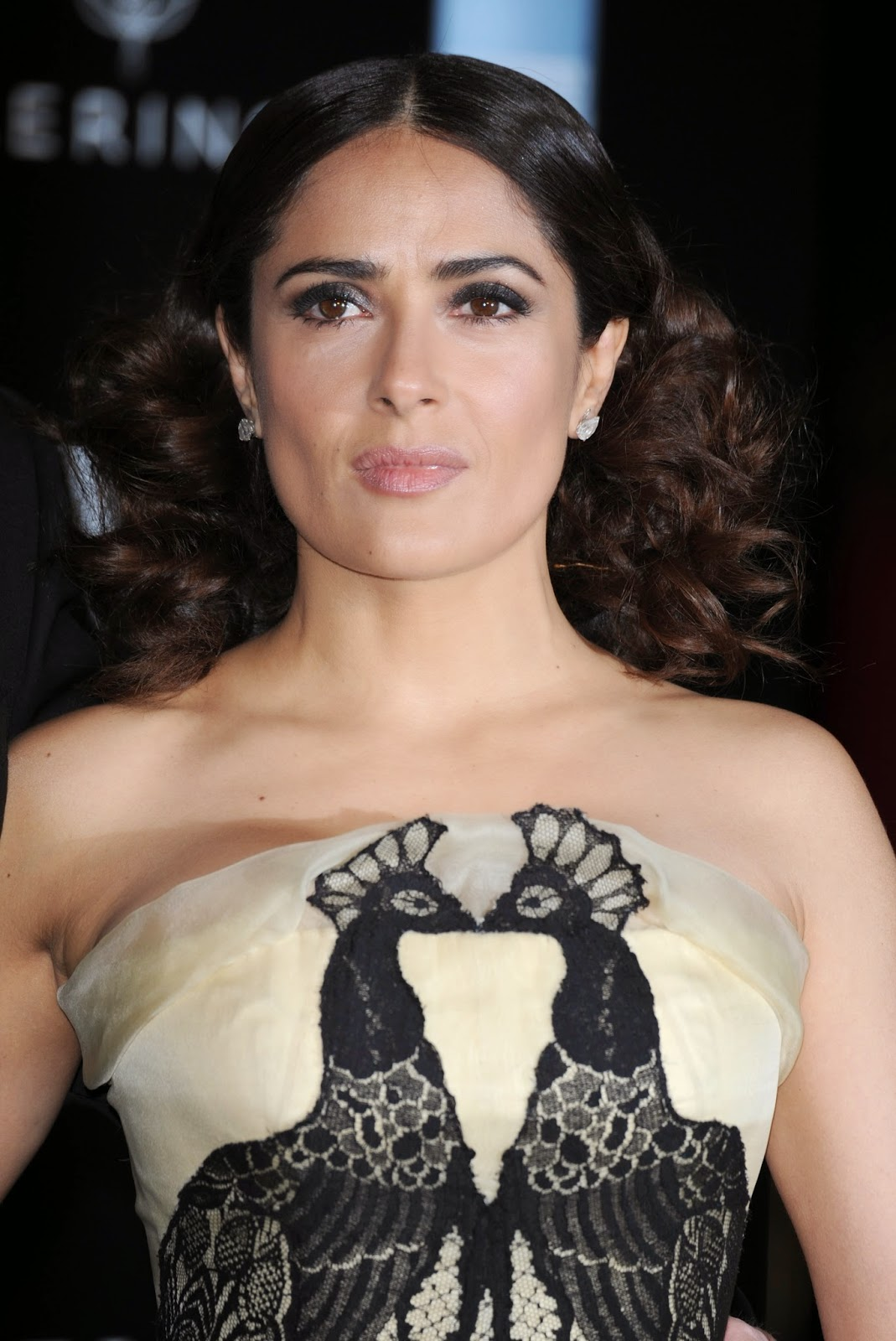 Actress @ Salma Hayek - Candids at Alexander McQueen: Savage Beauty Exhibition in London