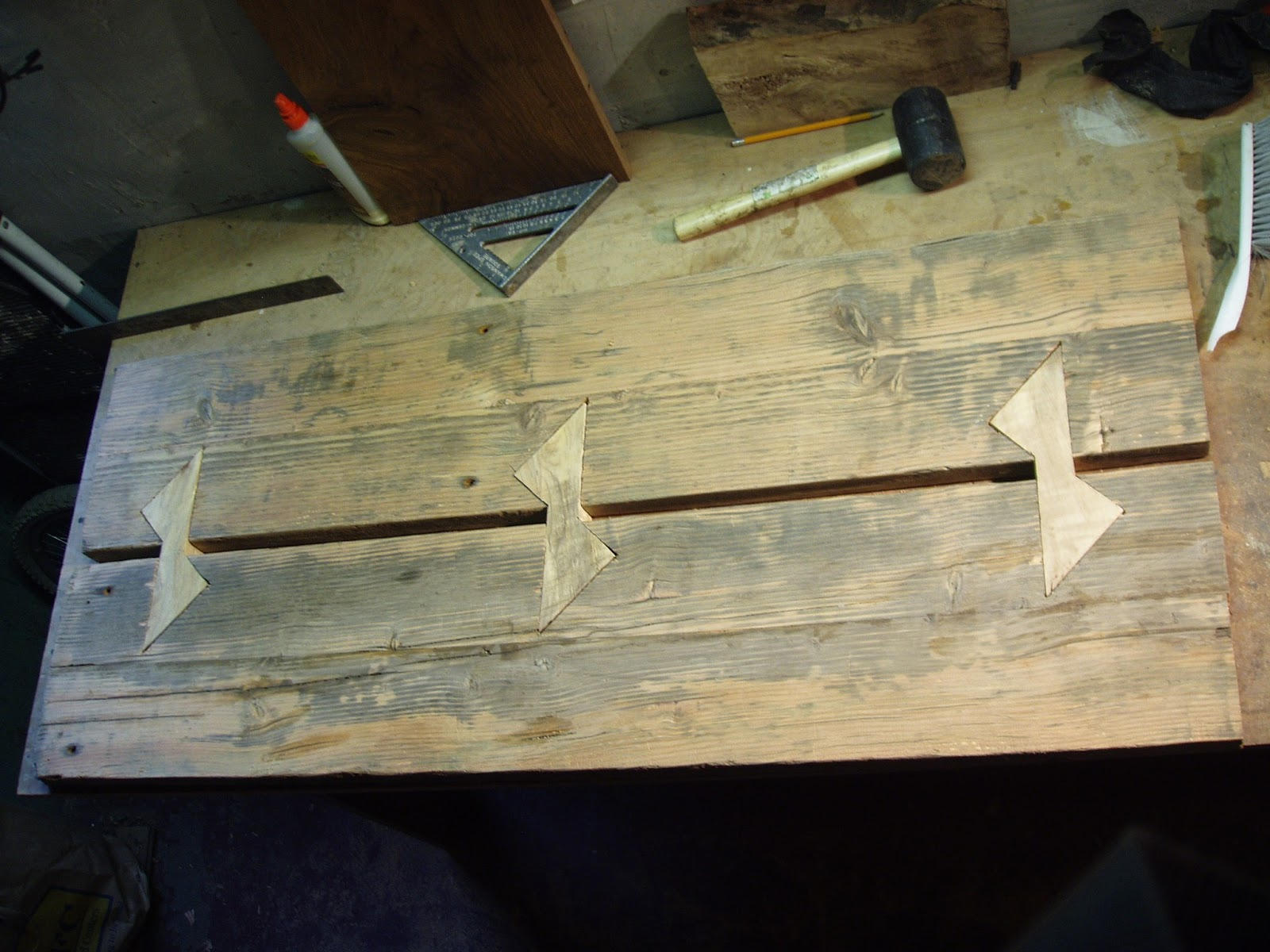 Driftedge woodworking maple butterfly joints for for Table joints