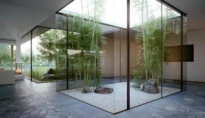 foto 7 jardin minimalista zen con piedras - interiores