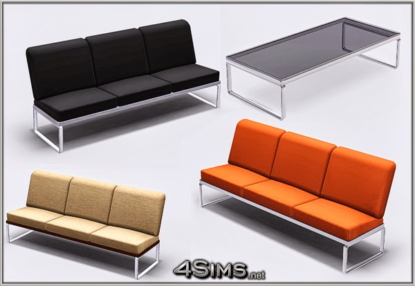 My sims 3 blog modern living room set by mirel for 3 star living room chair sims