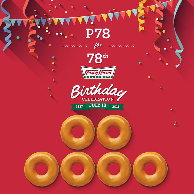 Get a Half-Dozen Box of Krispy Kreme Original Glazed Doughnuts for Just P78 on July 13