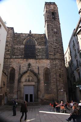 Sant Just i Pastor church inside the Barcelona Gothic Quarter
