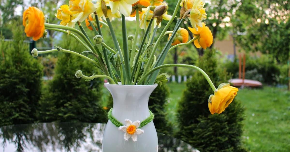 Wollzeitmama: Halskette für die Blumenvase