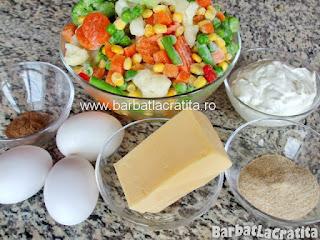 Legume gratinate la cuptor ingrediente reteta