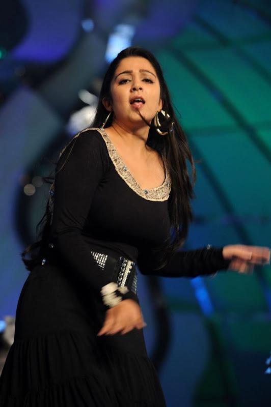 Actress Charmi Sexy Stills At Cinemaa Awards  Hot Performance Cleavage hot photos