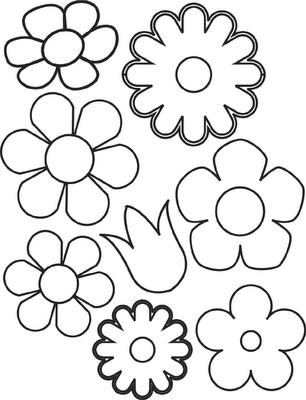 imagens para colorir e imprimir de flores - Desenhos de flores para colorir com as crianças Guia Infantil