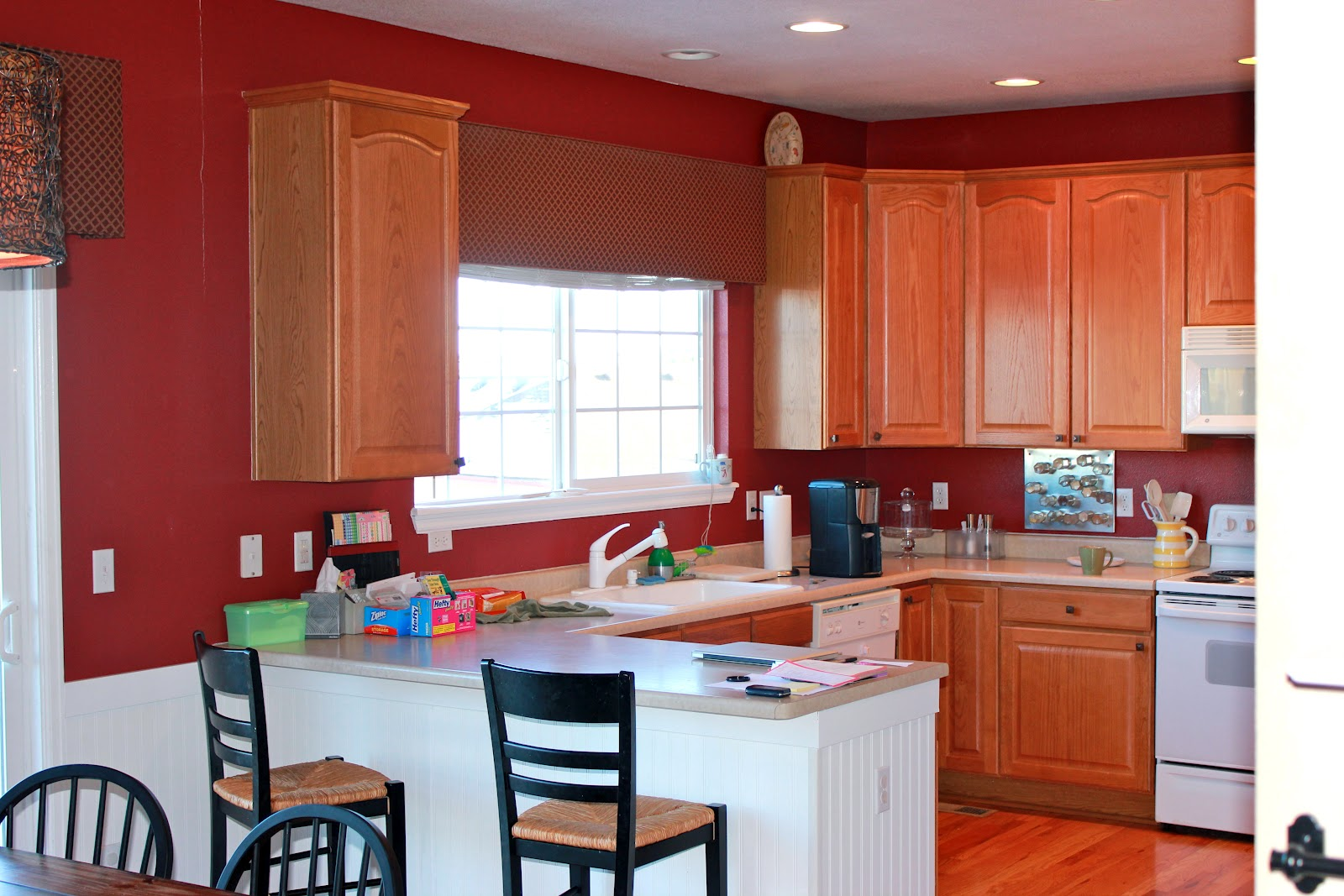 Achieving Creative Order Painted Kitchen Cabinets and Bead Board