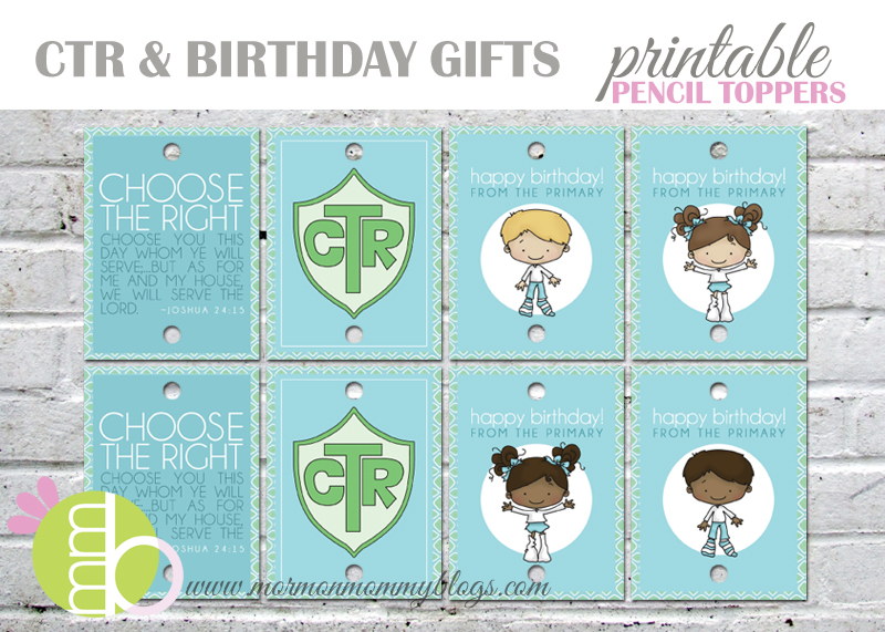 Mormon Mommy Printables: Printable Primary Gifts - Birthday and CTR ...