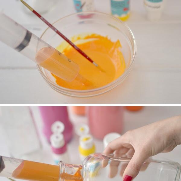 DIY: Pintar botellas