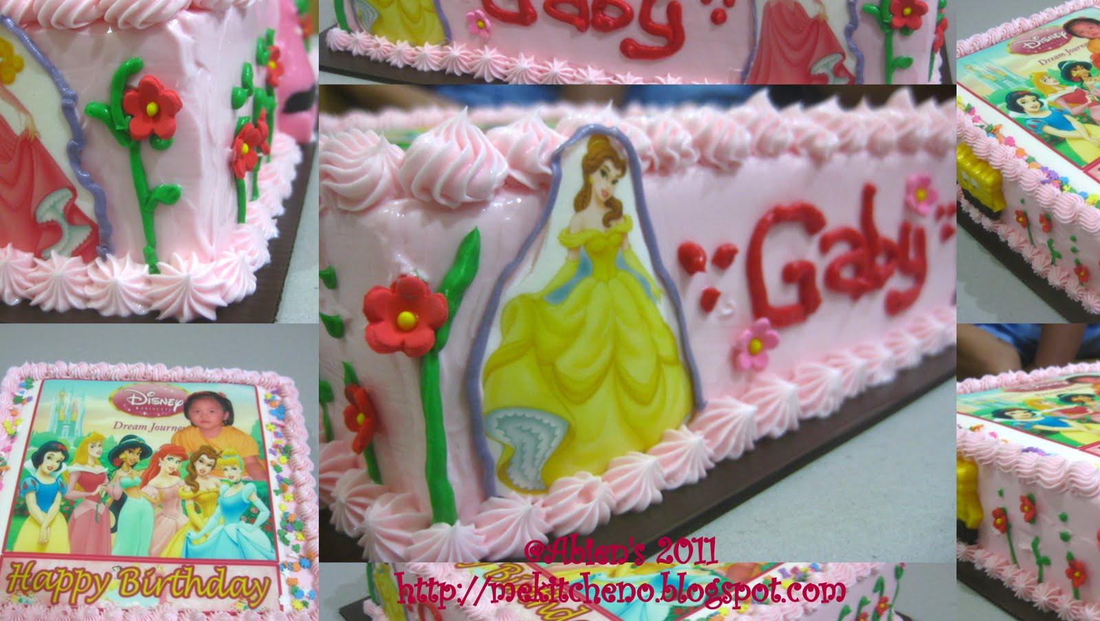 Kue ulang tahun anak : princess gaby