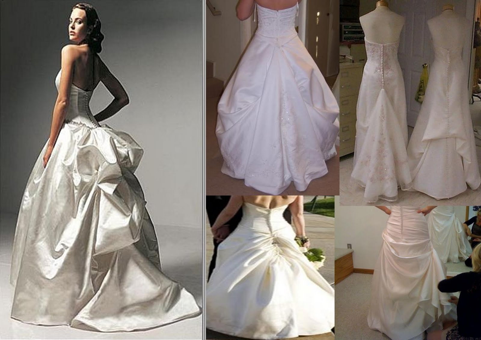 Wedding Dress Bustle Types Image