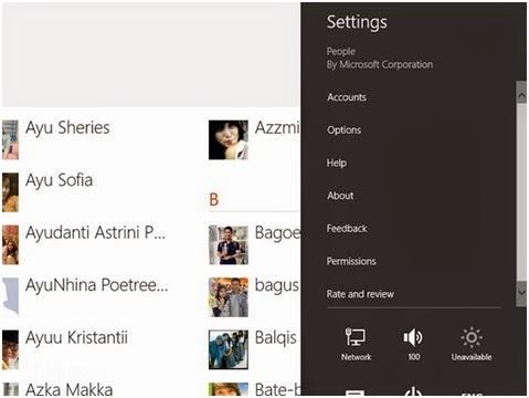 Cara Paling Mudah Untuk Menampilkan atau Menyembunyikan Kontak dari Aplikasi People Windows 8