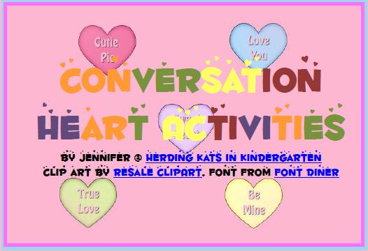 https://www.teacherspayteachers.com/Product/Conversation-Heart-Math-Activities-204178