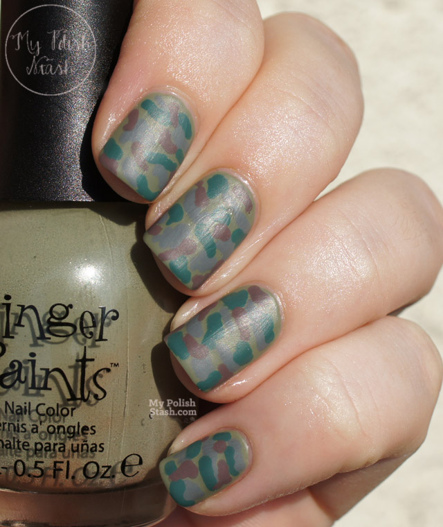 finger paints military green