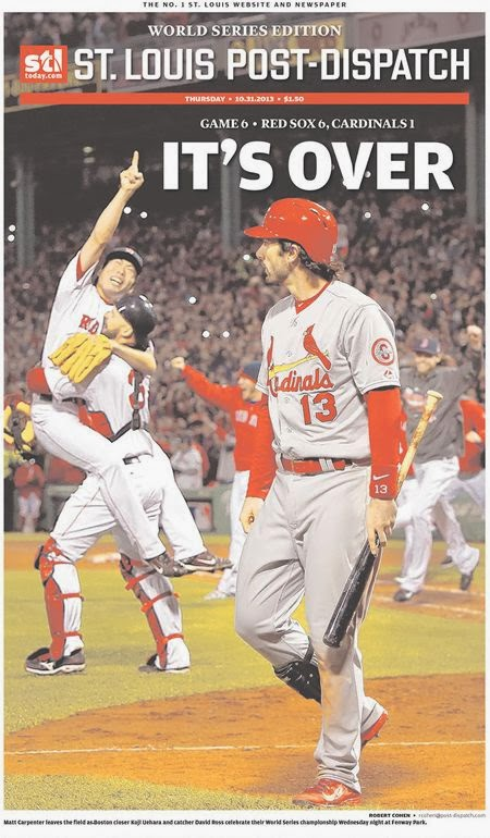 Red Sox take out ad in St Louis Post-Dispatch thanking