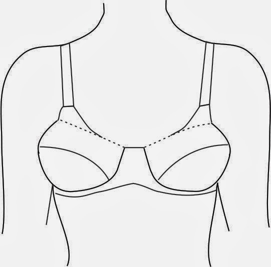 how to draw a bra step by step