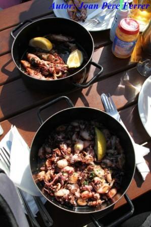 Calamares en el Restaurante Lokanda Pescarija en Dubrovnik