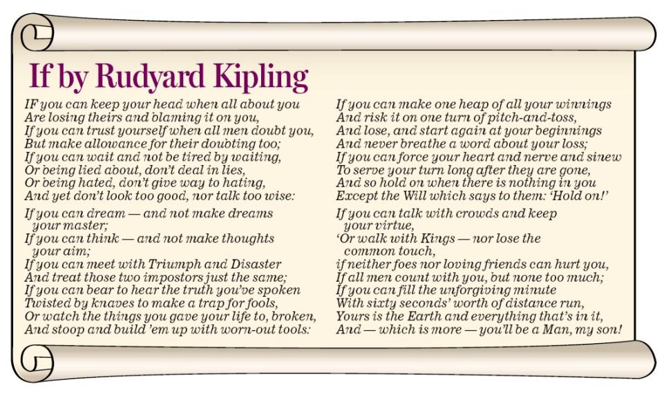 if by rudyard kipling essay buy online reserch paper poem if by rudyard kipling