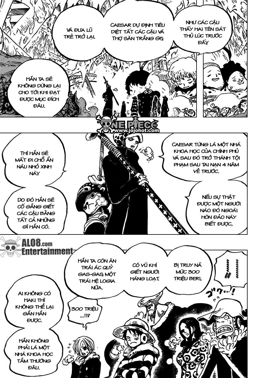 One Piece Chapter 668: Liên minh Hải tặc 011