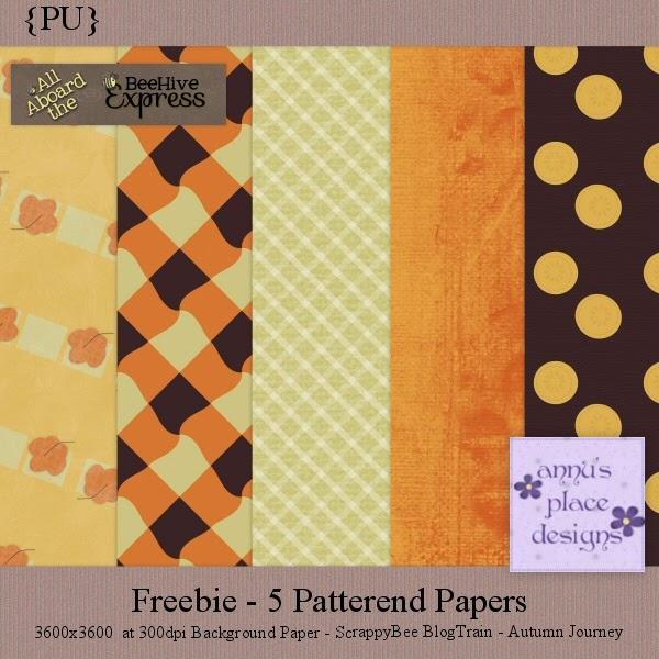 Freebie - ScrappyBee BlogTrain - Autumn Journey