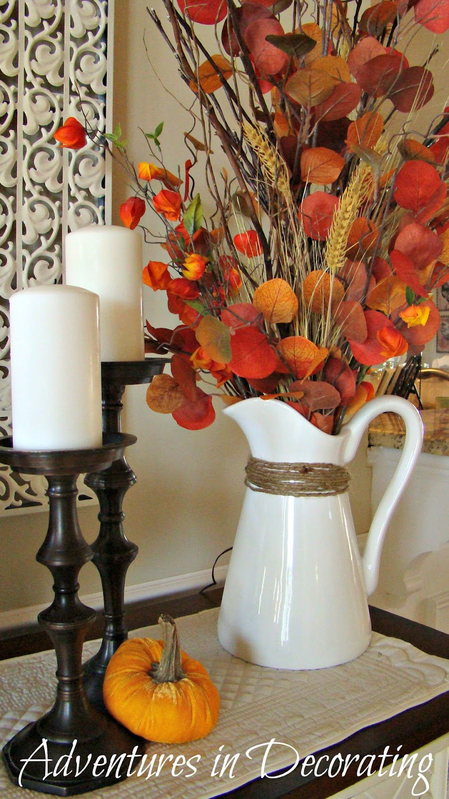 Adventures in Decorating: Fall Buffet
