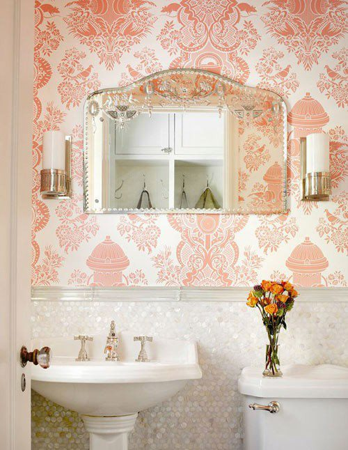 decoracao banheiro vintage