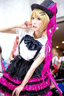 Chii cosplay as Vocaloid Rin