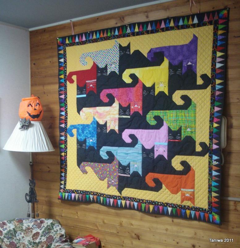 Taniwa: October 2011 : tessellation cat quilt pattern - Adamdwight.com