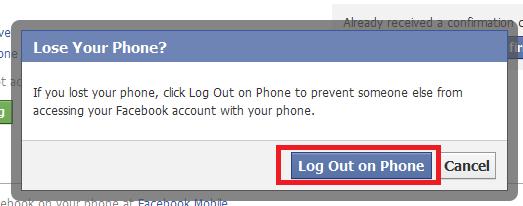 Logging Out Facebook