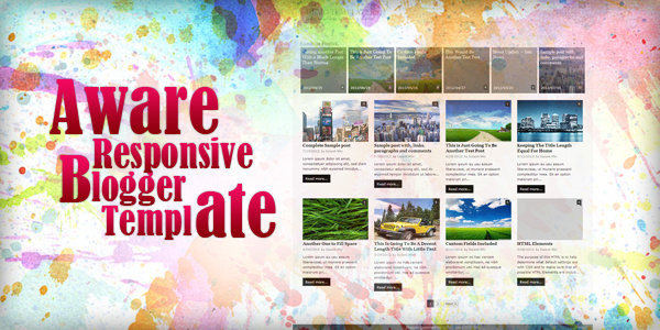 Aware Responsive Blogger Template by MKR