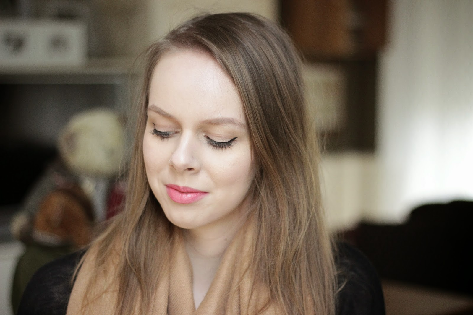 ook of the day, blowy make-up