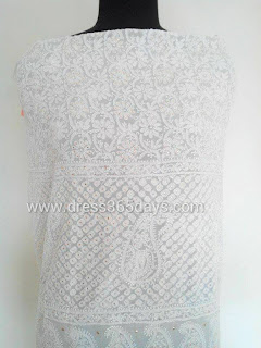 Dress Material white chikankari