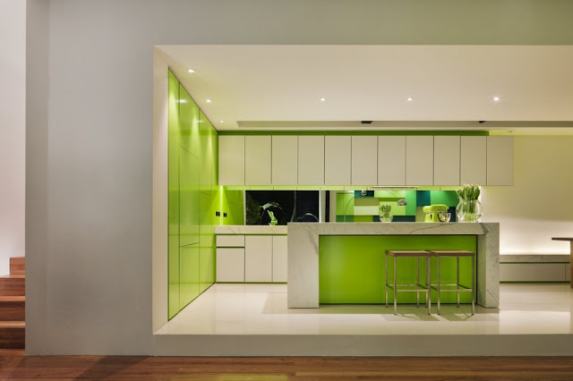 Lighting in the minimal kitchen
