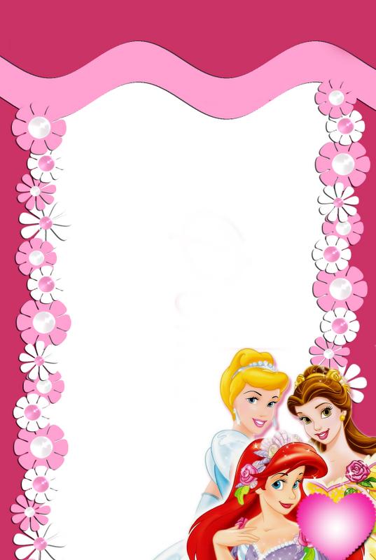 hermosa marco para caratulas de niñas