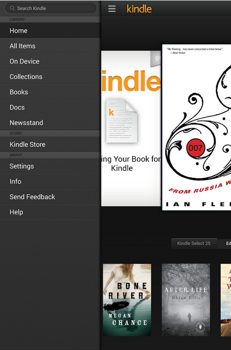 Kindle-eBook Reader for Android