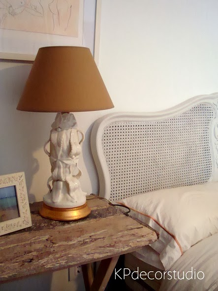 Lámparas de dormitorio vintage. Cerámica de manises. Lámparas de mesa originales